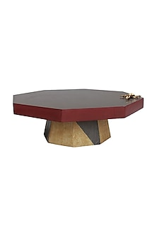 Multicolor Wooden & Brass Beetle Cake Stand by Karo