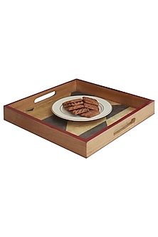 Multicolor Wooden Beetle Serving Tray by Karo