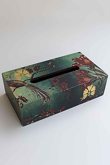Green Gulbagh Tissue Box by Karo