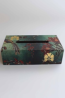 Green Gulbagh Tissue Box by Karo
