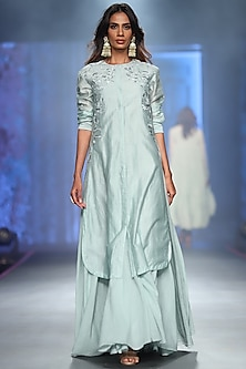 Grey Embroidered With Inner Dress by Samant Chauhan