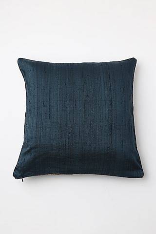 Blue Hand Block Printed Cushion Cover by Inheritance India