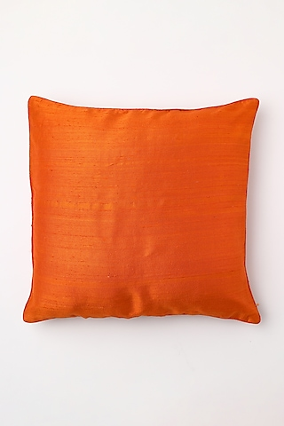 Red Hand Block Printed Cushion Cover by Inheritance India