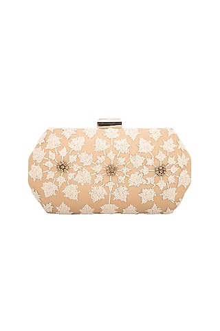 Nude & Ivory Cutdana Box Clutch by Inayat