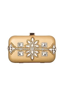 Gold & Copper Box Clutch by Inayat