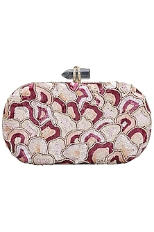 Multi-Coloured Sequins Box Clutch by Inayat