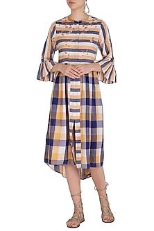 Ochre Embroidered Shirt Dress by Irabira