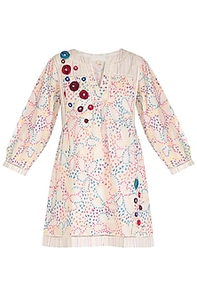 Multi Colored Embroidered Dress by Irabira