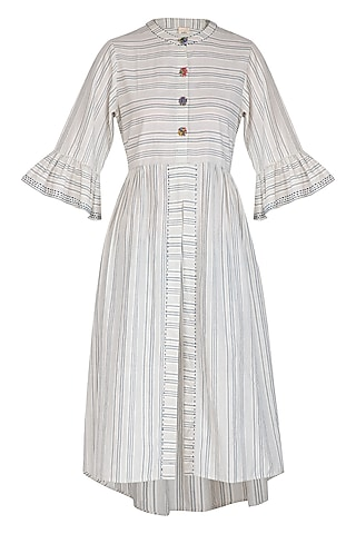 Indigo Striped Shirt Dress by Irabira