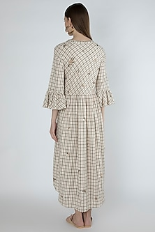 Beige Embroidered Shirt Dress by Irabira