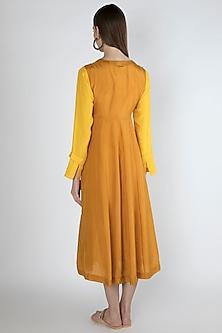 Orange Kurta Dress With Slip by Irabira Urban