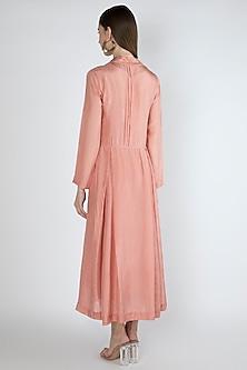 Salmon Pink Kurta Dress With Slip by Irabira