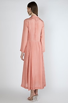 Salmon Pink Kurta Dress With Slip by Irabira Urban
