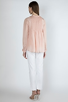 Rose Pink Blouse With Slip by Irabira Urban