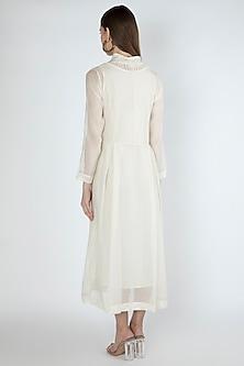Off White Kurta Dress With Slip by Irabira