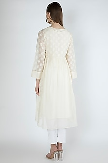 Off White Embroidered Kurta With Slip by Irabira