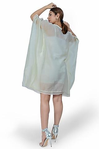 Off White Printed Kaftan Dress by Ishreen kaur