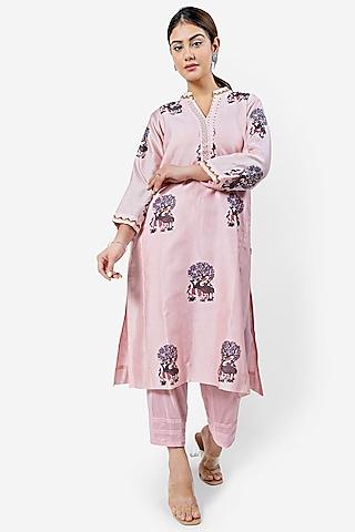 Light Pink Kalidar Kurta by Ishreen kaur