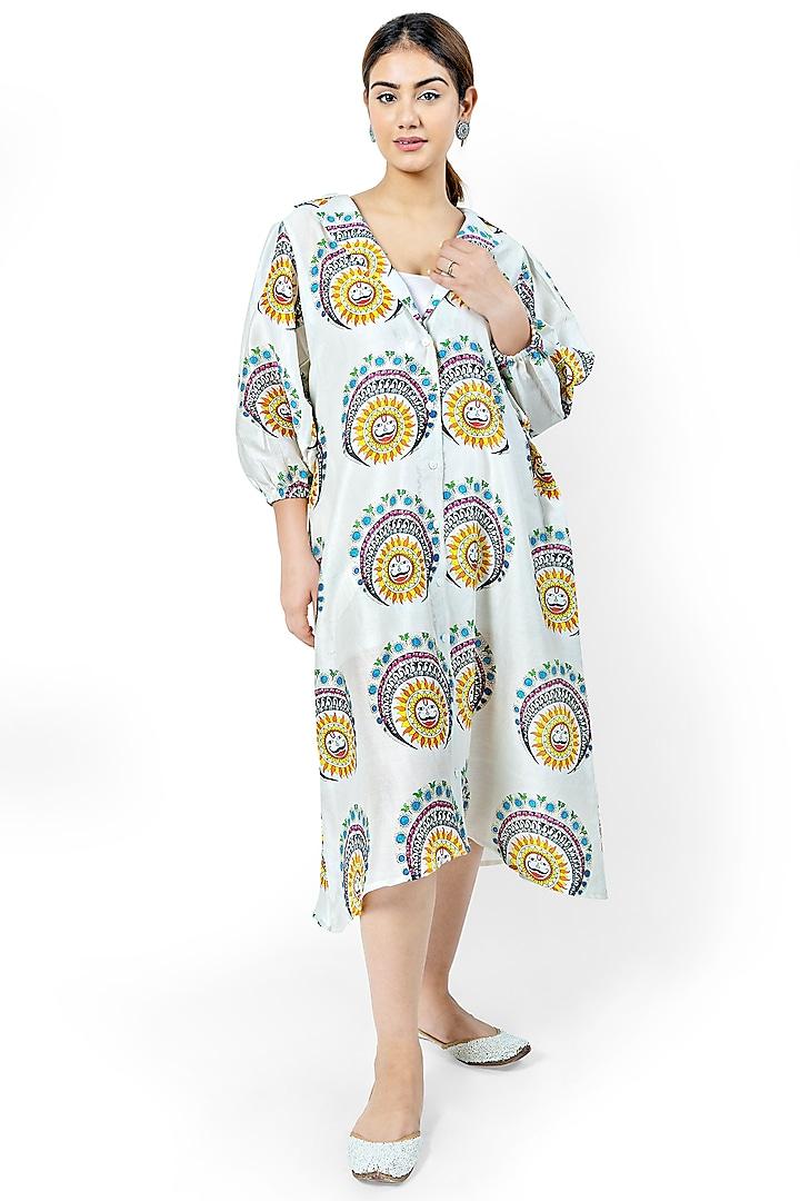 Off White A-Line Shirt Dress by Ishreen kaur