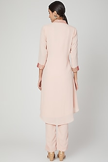 Blush Pink Embroidered Tunic With Pants by Isha Singhal