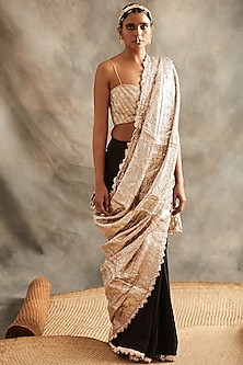 Black & Silver Saree Set by ITRH