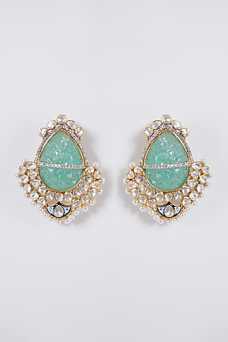 Gold Plated Earrings In Sterling Silver by IVORINE