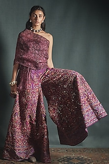 Wine & Purple Co-Ordinate Set by Jade by Monica and Karishma