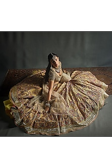 Multi Colored Exquiste Lehenga Set by Jade by Monica and Karishma