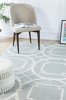 Blue Rug With Geometric Patterns by Jaipur Rugs