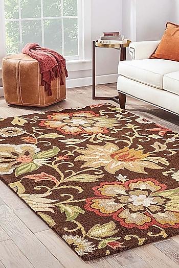 Beige & Brown Textured Rug by Jaipur Rugs
