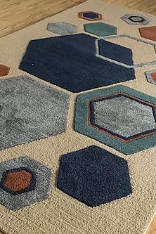 Beige & Brown Woolen Rug by Jaipur Rugs