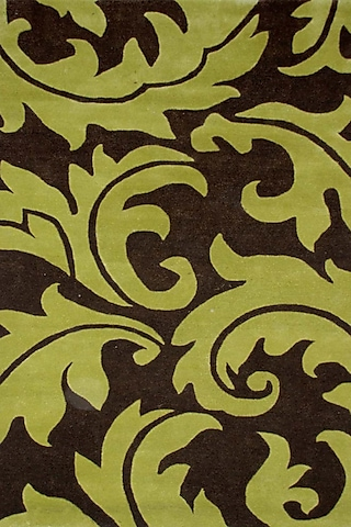Oasis Green Patterned Rug by Jaipur Rugs