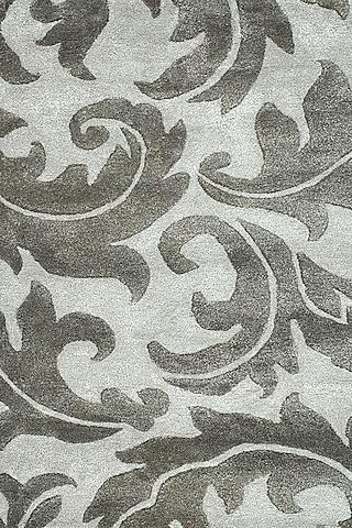 Grey & Black Liquorice Patterned Rug by Jaipur Rugs