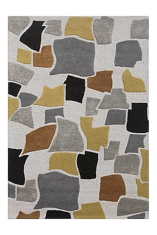 White Wool & Viscose Rug by Jaipur Rugs