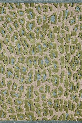 Cool Aqua Blue Woolen Rug by Jaipur Rugs