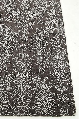 Ashwood Brown Floral Rug by Jaipur Rugs