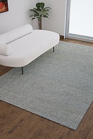 Soft Mint Solid Dhurrie Rug by Jaipur Rugs