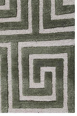 Burnt Olive Wool & Viscose Rug by Jaipur Rugs