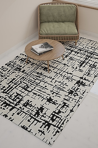 White Abstract Rug by Jaipur Rugs