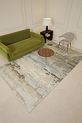 Antique White Viscose & Wool Hand-Tufted Rug by Jaipur Rugs