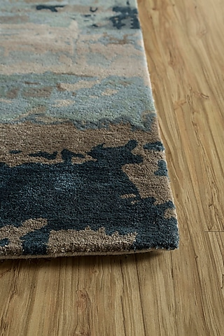 Silver Wool & Viscose Abstract Rug by Jaipur Rugs