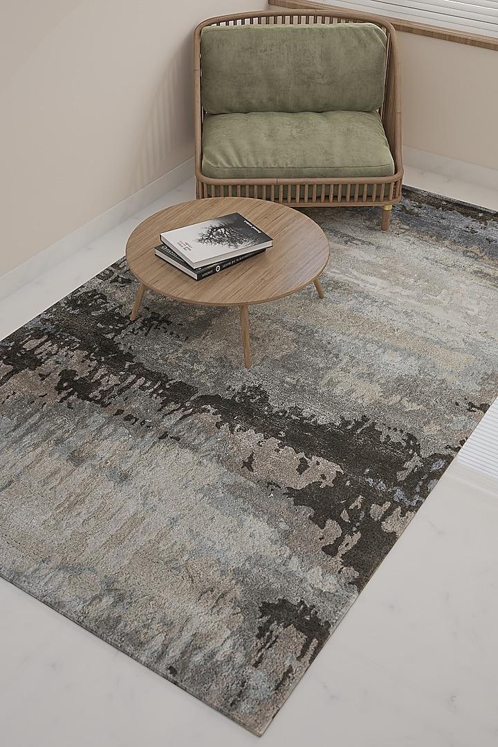 Silver Wool & Viscose Rug by Jaipur Rugs