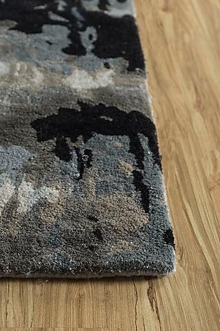 Pearl Blue Wool & Viscose Abstract Rug by Jaipur Rugs