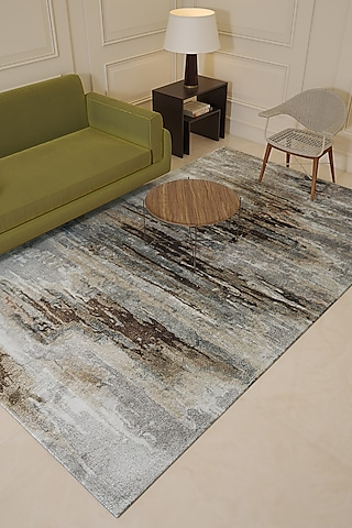 Classic Grey Wool & Viscose Abstract Rug by Jaipur Rugs