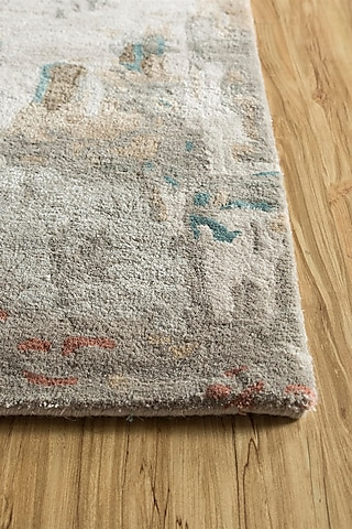 Antique White Wool & Viscose Hand-Tufted Rug by Jaipur Rugs