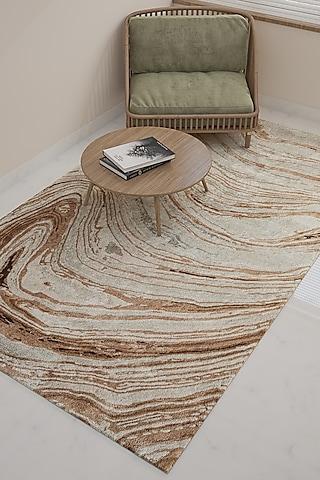 Classic Grey Wool & Viscose Geometric Rug by Jaipur Rugs