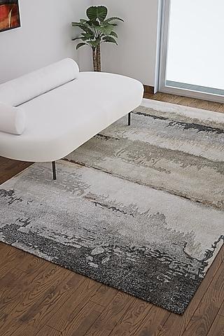 Grey Wool & Viscose Abstract Rug by Jaipur Rugs