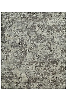 Pearl Blue Wool & Silk Hand-Knotted Rug by Jaipur Rugs