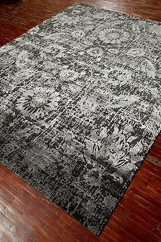 Frost Grey Wool & Silk By Kavi Rug by Jaipur Rugs