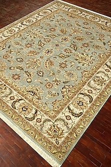 Ice Blue 100% Wool Hand-Knotted Atlantis Rug by Jaipur Rugs